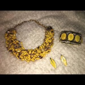 Yellow costume jewelry